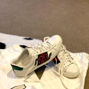 Gucci Ace Sneakers (Snake)